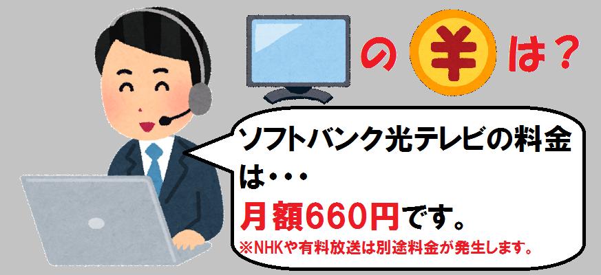 ソフトバンク光テレビ料金